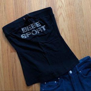 Black Bebe Sport Tube Top